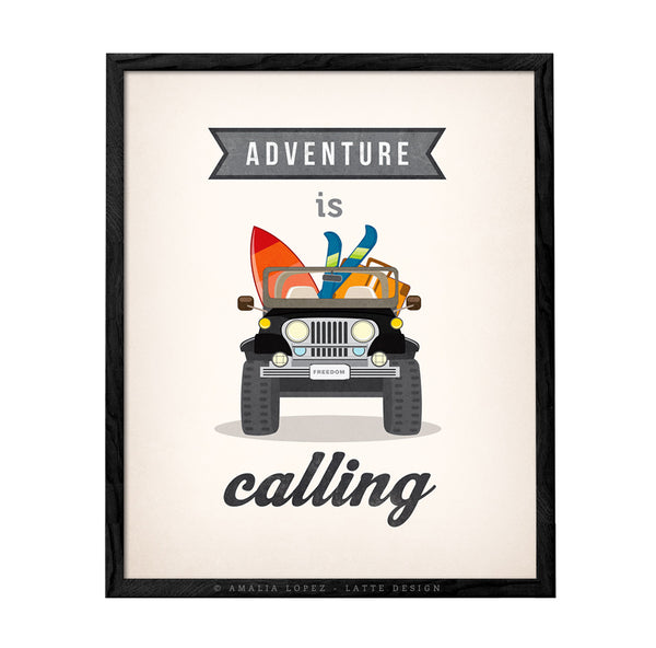 Adventure is calling. Jeep print