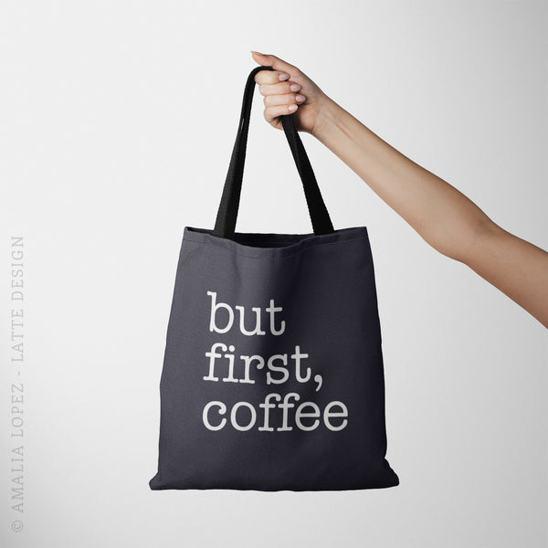 But first coffee tote bag