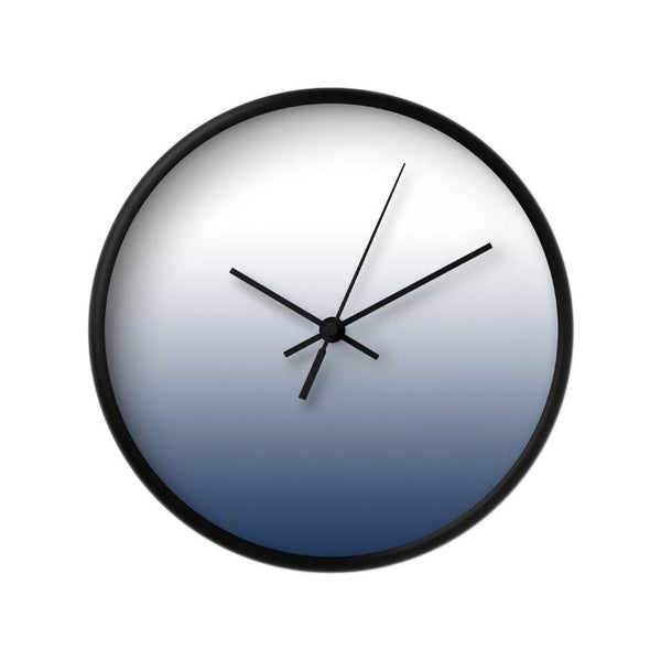 Indigo blue gradient wall clock - Latte Design  - 2