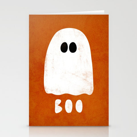 Boo. Ghost greeting card