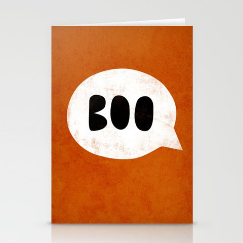 Boo. Halloween Greeting Card