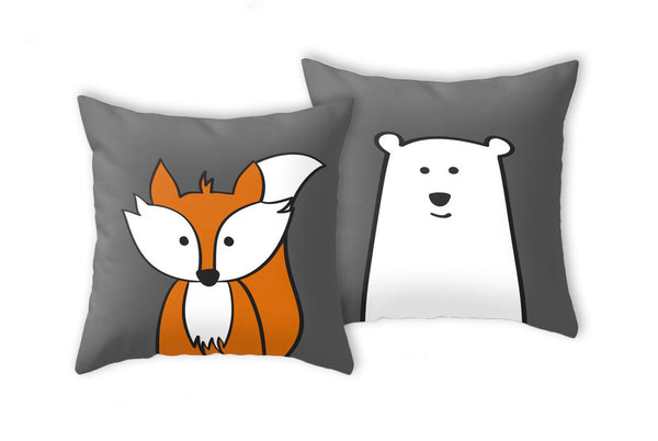 Fox pillow. Nursery pillow - Latte Design  - 3