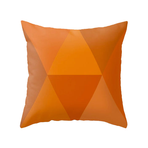 Burnt orange geometric cushion