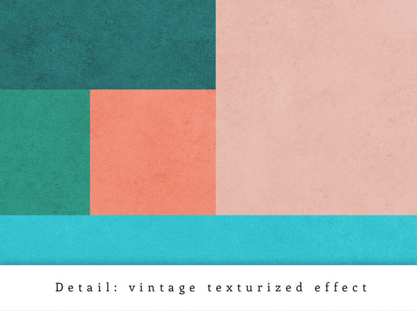 Abstract 10. Teal & pink geometric print - Latte Design  - 6