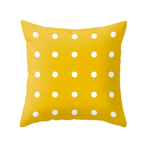 Dots pillow. Yellow - Latte Design  - 1