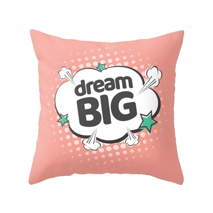 Dream big. Pink Pop-art Nursery cushion