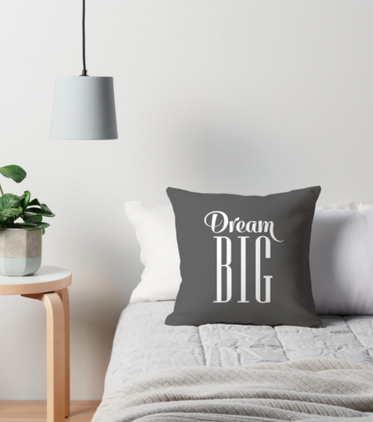 Dream big cushion. Black - Latte Design