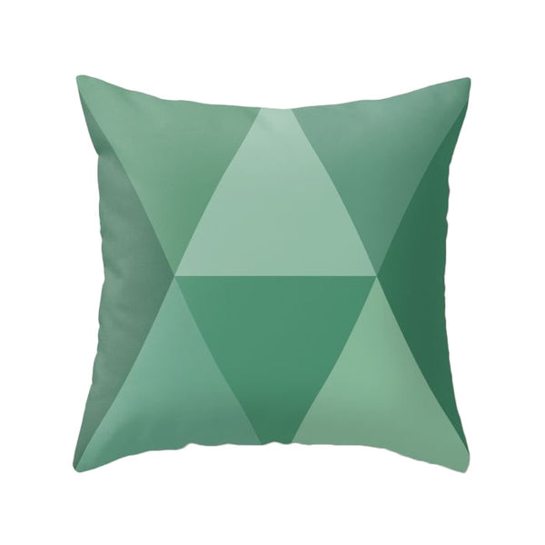 Greenery - Pantone colour 2017. Green geometric pillow