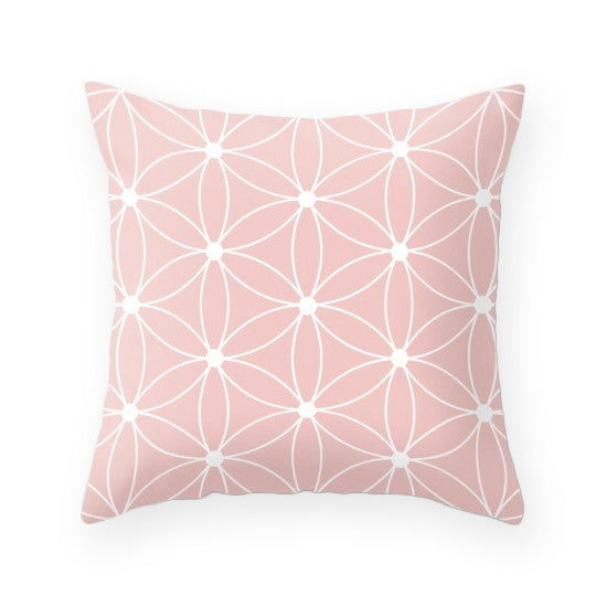 Rose quartz - Pantone color of the year 2016. Grid cushion - Latte Design  - 2