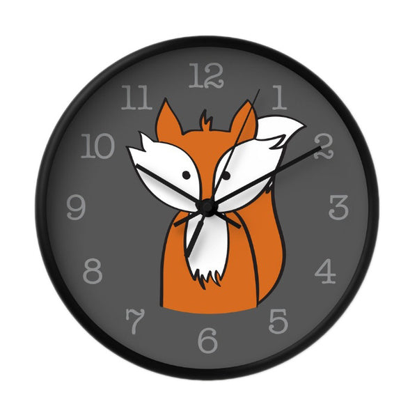 Fox wall clock. Nursery clock - Latte Design  - 2