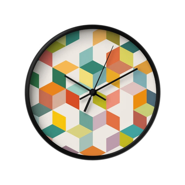 Geometric 3B. Geometric wall clock - Latte Design  - 2