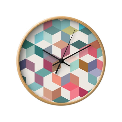 Geometric 1. Geometric wall clock - Latte Design  - 1