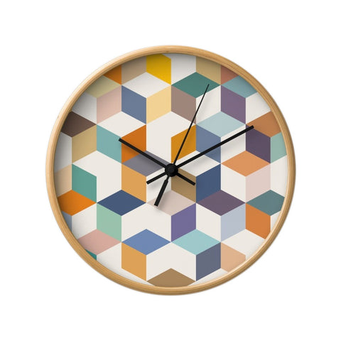 Geometric 3. Geometric wall clock - Latte Design  - 1