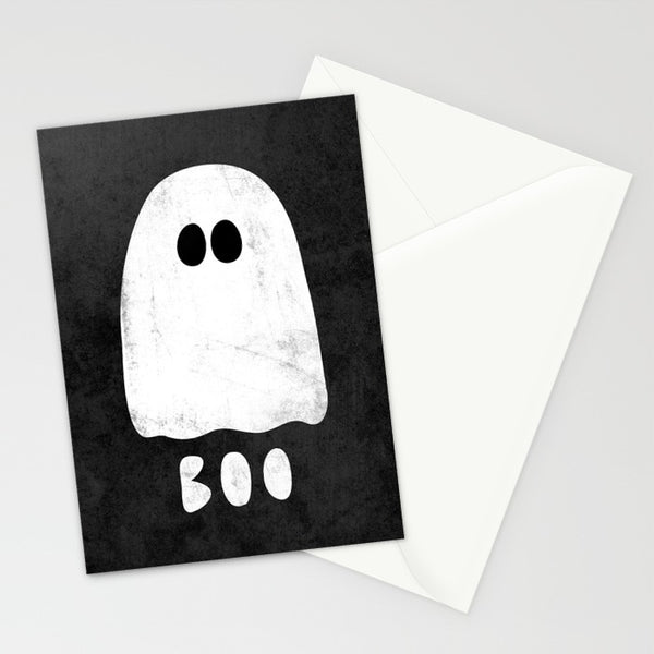 Boo. Ghost Halloween Greeting card