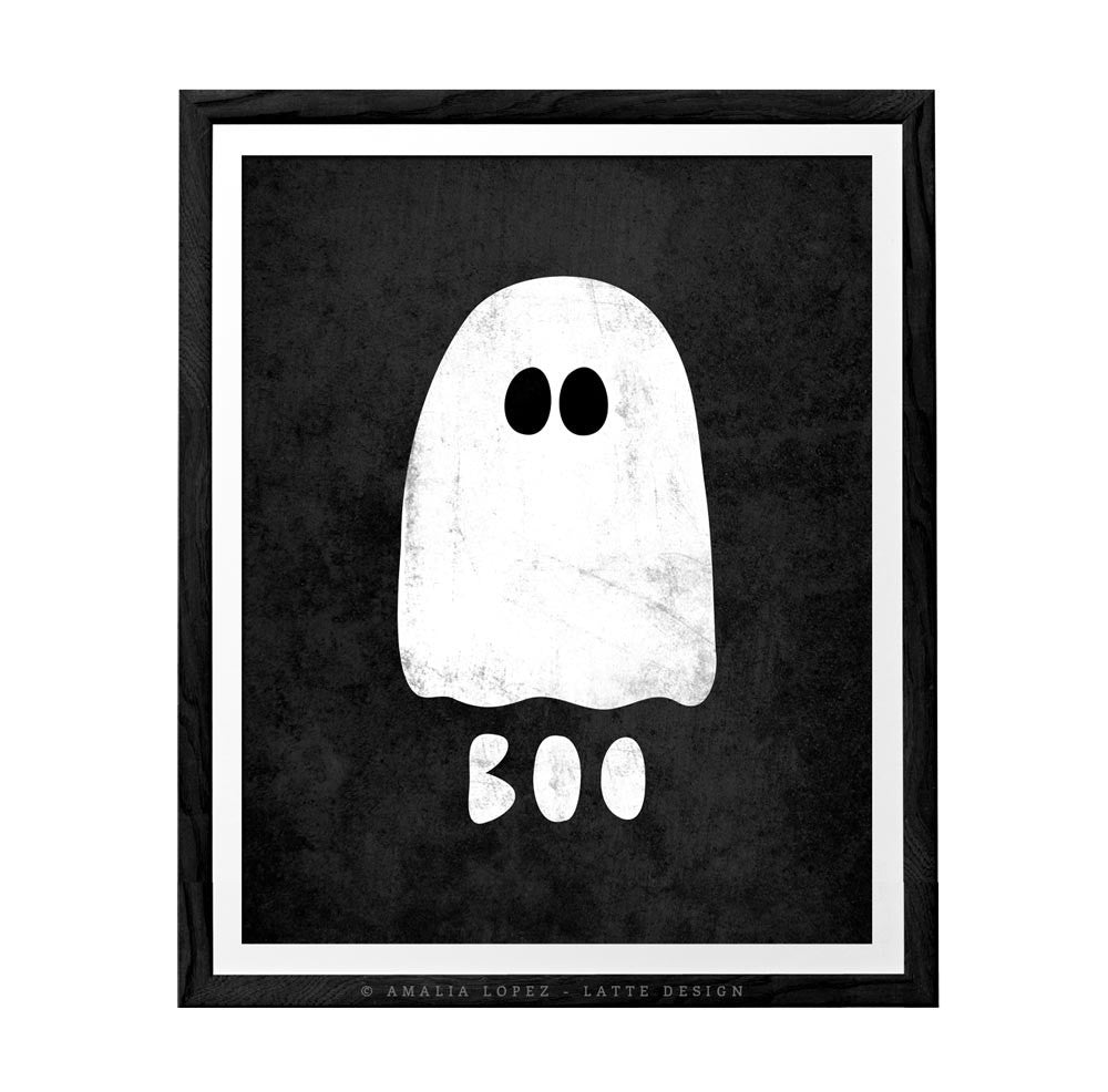 Ghost. Halloween print - Latte Design  - 1