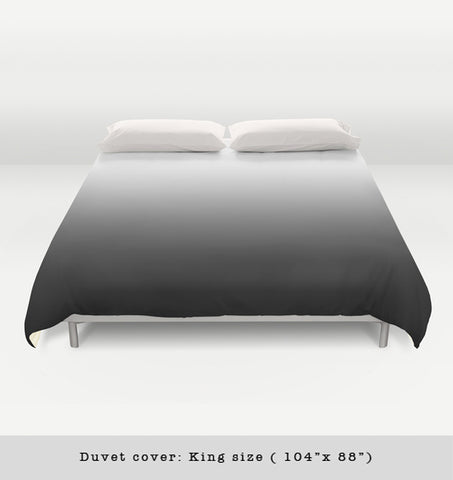 Black gradient duvet cover