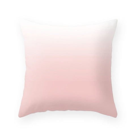Rose quartz ombre pillow. Pantone color of the year - Latte Design  - 1