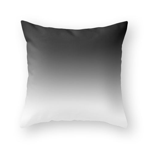 Black ombre pillow