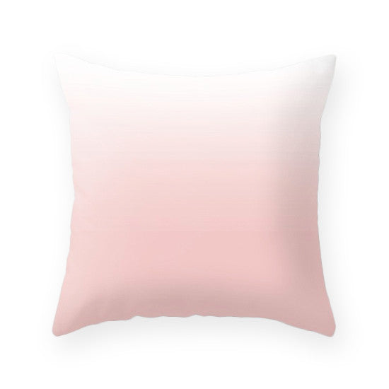 Rose quartz - Pantone color of the year 2016. Geometric cushion - Latte Design  - 3