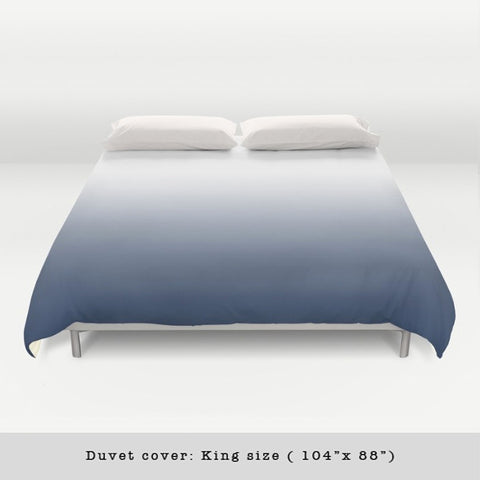 Indigo blue gradient duvet cover - Latte Design  - 1
