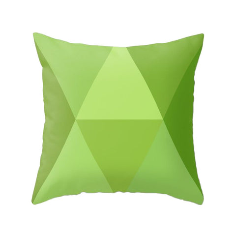 Greenery - Pantone colour 2017. Green geometric cushion