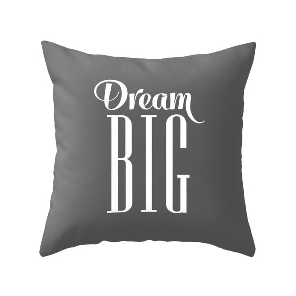 Dream big pillow cover. Gray - Latte Design  - 1