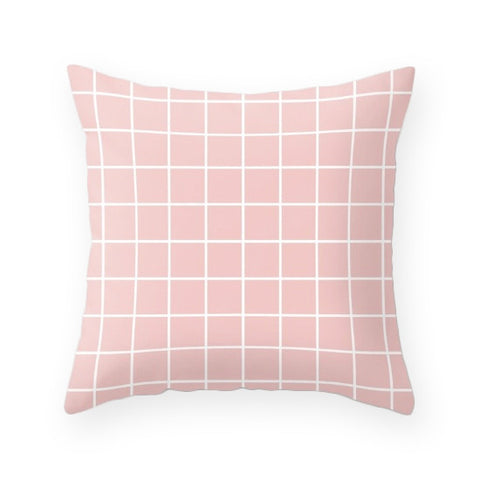 Rose quartz - Pantone color of the year 2016. Grid cushion - Latte Design  - 1