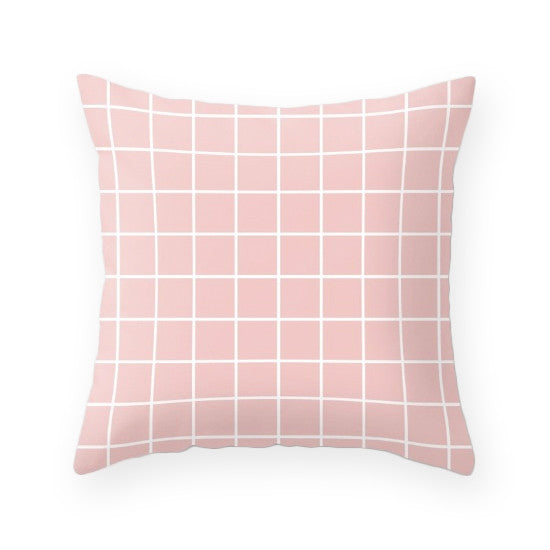 Rose quartz - Pantone color of the year 2016. Geometric cushion - Latte Design  - 4