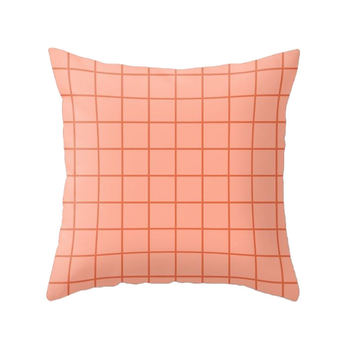 Light orange Grid pillow