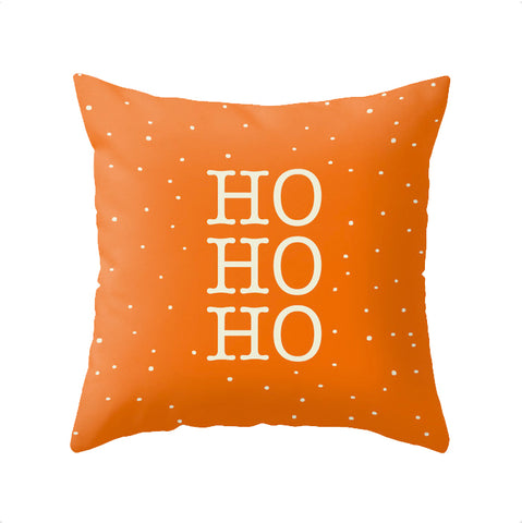 HO HO HO. Orange Christmas cushion