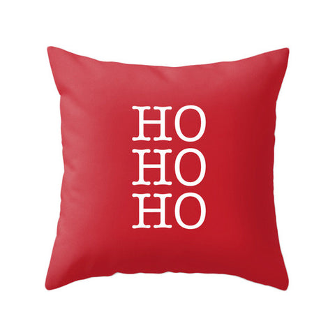 HO HO HO. Red Christmas pillow Snow flakepillow Red Christmas decor Xmas pillow Christmas decoration Red Christmas cushion Red Xmas pillow red pillow - Latte Design  - 1