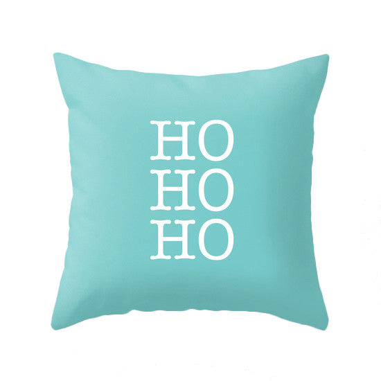 Merry Christmas. Turquoise Christmas pillow - Latte Design  - 6