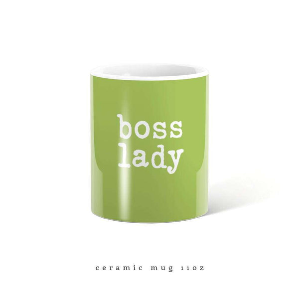 Green Boss lady metal travel mug