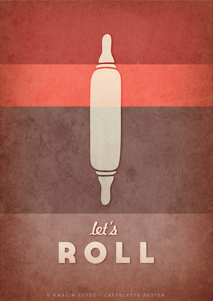 Let's roll. Red kitchen print - Latte Design  - 3