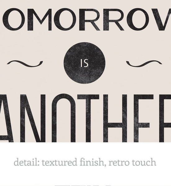Movie quote print Typography poster Inspirational print Optimistic print Square print After all tomorrow is Gone with the wind 12x12 30x30 - Latte Design  - 2