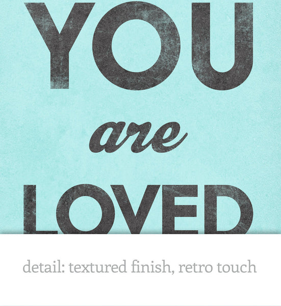 You are loved. Gray love print - Latte Design  - 4