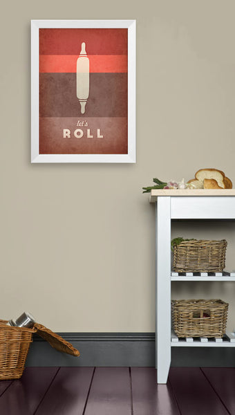 Let's roll. Red kitchen print - Latte Design  - 2
