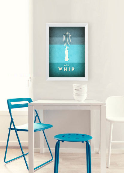 Let's whip. Teal kitchen print - Latte Design  - 3