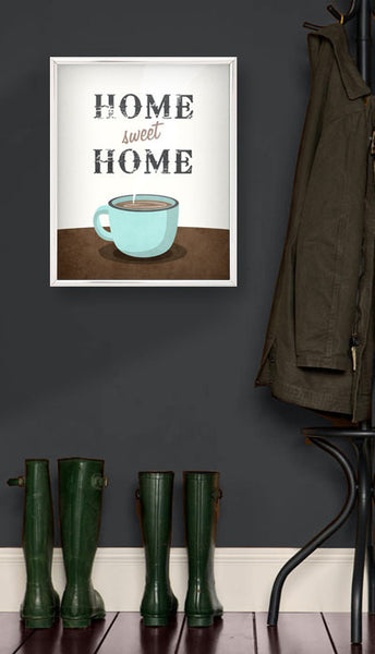 Home sweet home. Coffee print - Latte Design  - 2