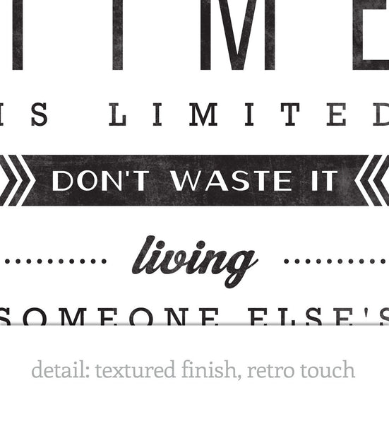 Your time is limited... Steve Jobs quote. Black and white motivational print - Latte Design  - 5