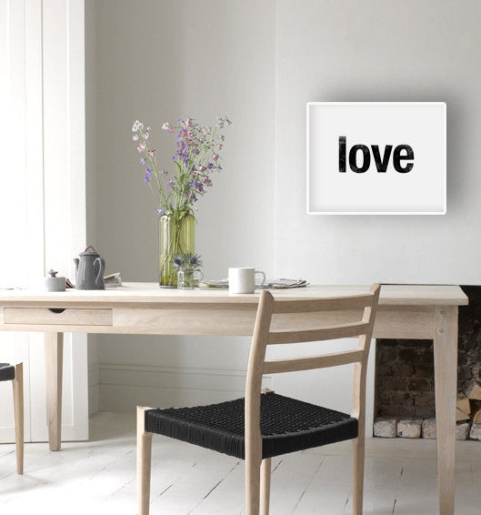 Love print. Black typography print - Latte Design  - 2