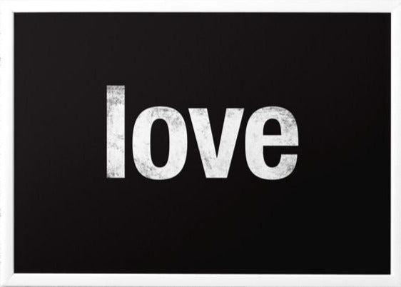 Love print. Black typography print - Latte Design  - 1