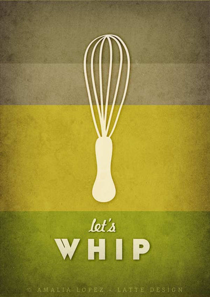 Let's whip. Green kitchen print - Latte Design  - 3