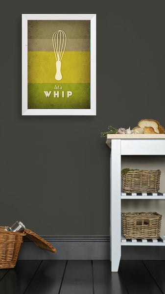 Let's whip. Green kitchen print - Latte Design  - 2