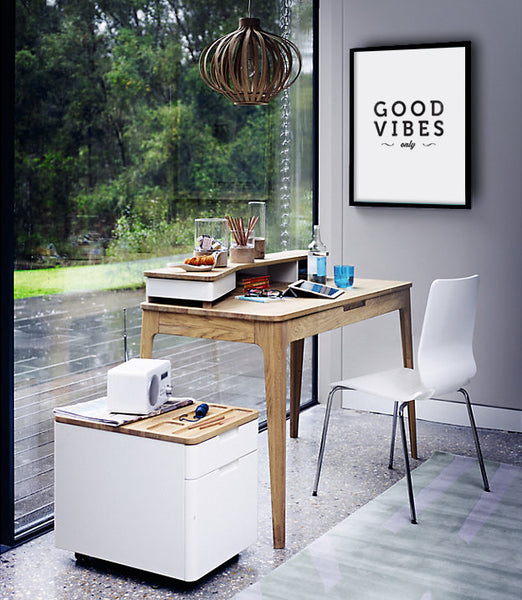 Good vibes only print. Black and white typography print - Latte Design  - 2