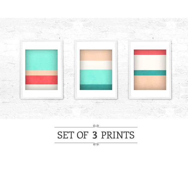 Stripes 3. Set of 3 prints - Latte Design  - 5