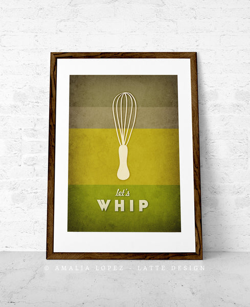Let's whip. Red kitchen print - Latte Design  - 4