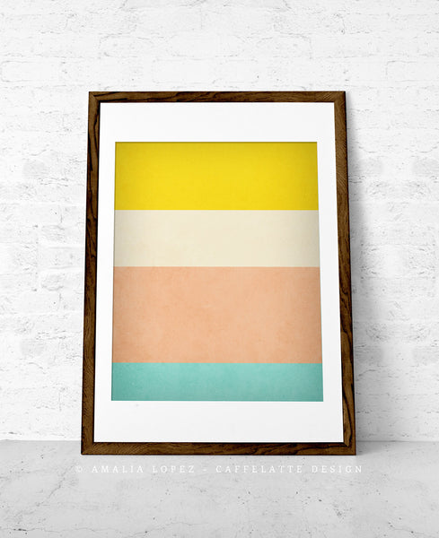 Stripes 1. Set of 3 PRINTS. Stripes wall art - Latte Design  - 5