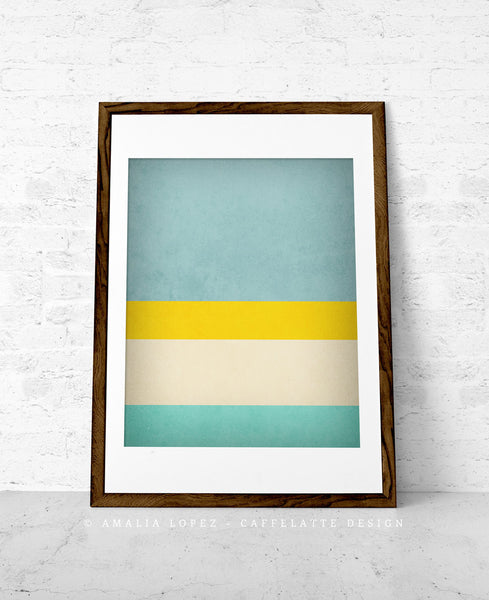 Stripes 1. Set of 3 PRINTS. Stripes wall art - Latte Design  - 3