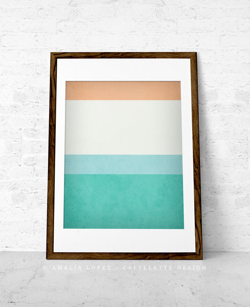 Stripes 1. Set of 3 PRINTS. Stripes wall art - Latte Design  - 4